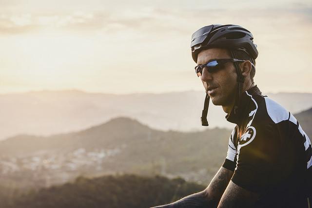 J A bike helmet