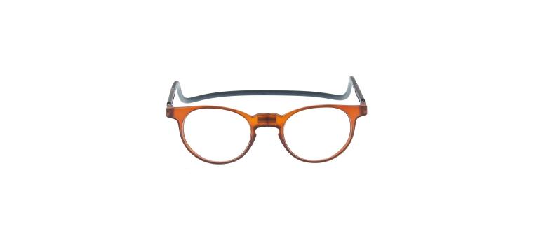 Gafas de lectura y gafas con monturas pregraduadas, ideales para montar lentes ocupacionales, con conexión frontal magnética y varilla única ajustable-flexible-elastomérica.
